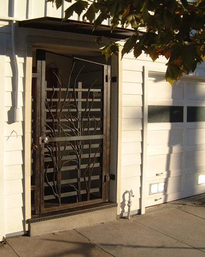 Door security front door security gates for Front door security